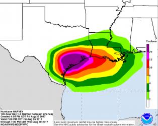 Hurricane Harvey Rainfall NOAA