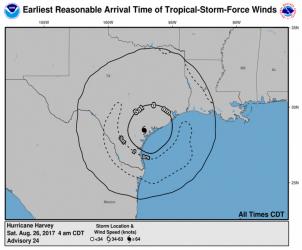 Hurricane Harvey Winds NOAA NWS