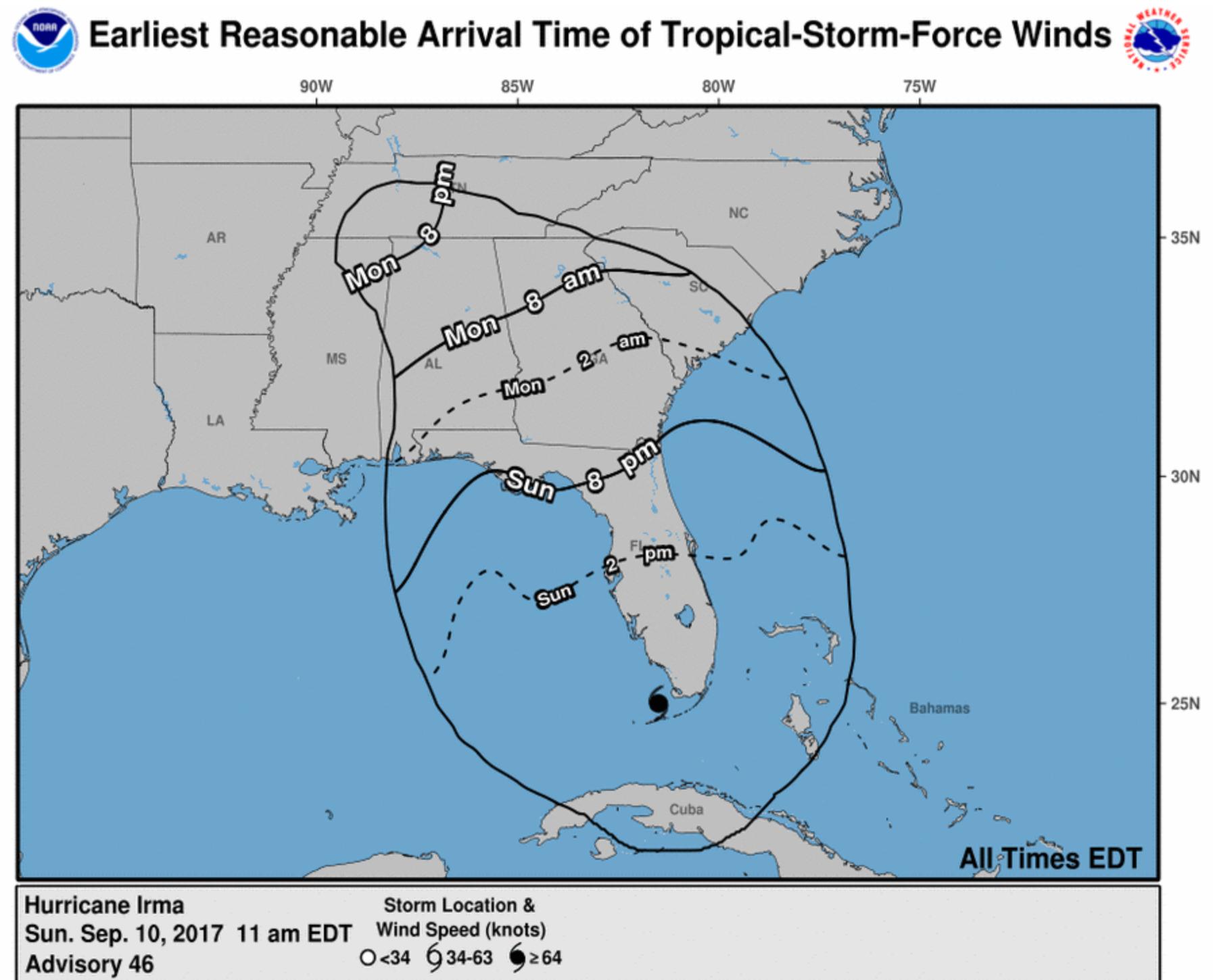 hurricane irma makes landfall in fl kills 3 100k in shelters