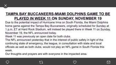 NFL Tampa Bay Miami Dolphins
