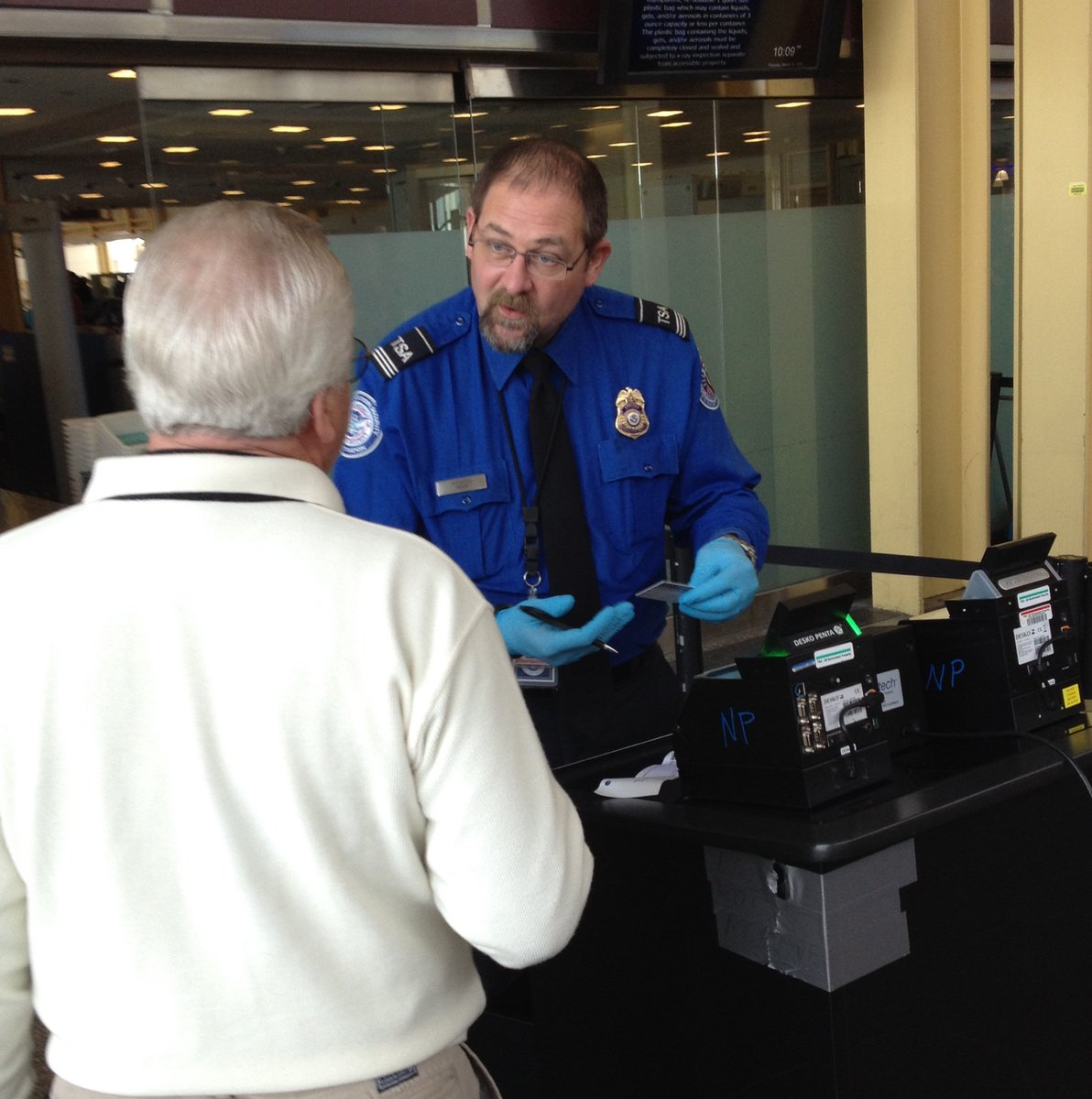 Thanksgiving Travel TSA checkpoint