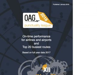 OAG Punctuality Report 2018 on-time punctuality airports airlines