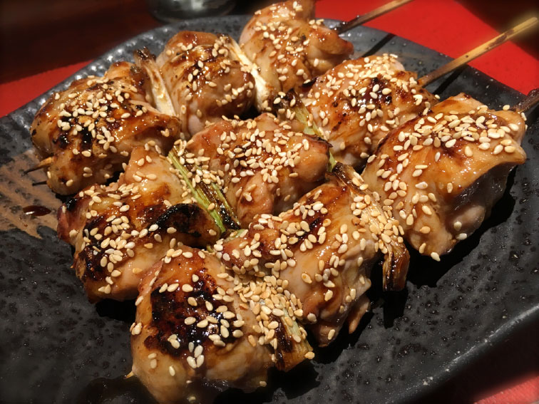 chicken skewers in taipei, taiwan