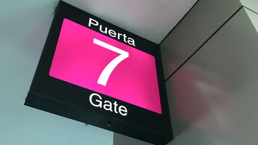 An airport gate in Panama City, Panama