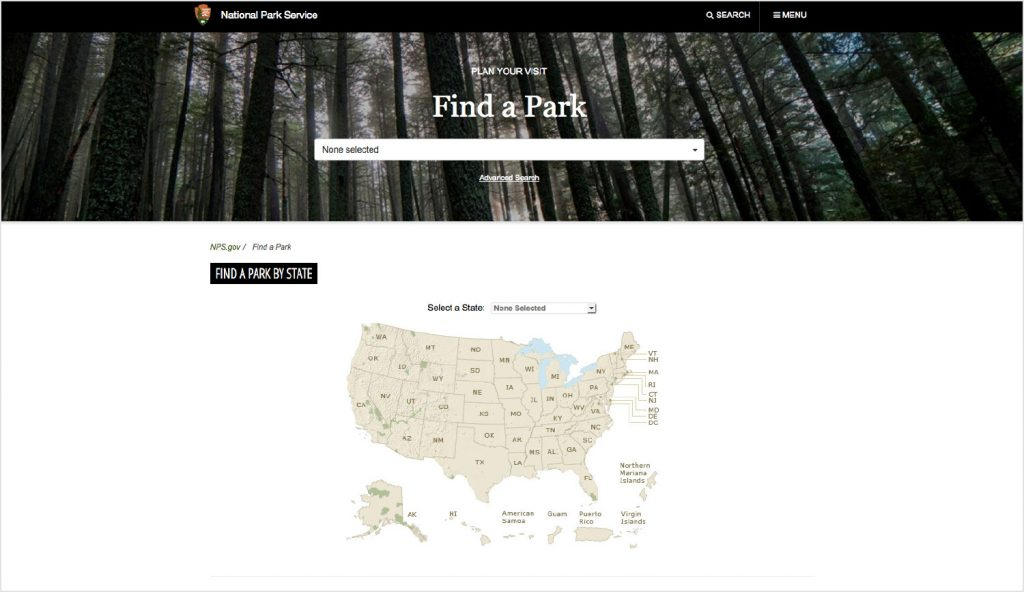 National Park Service Find a Park for Spring Break