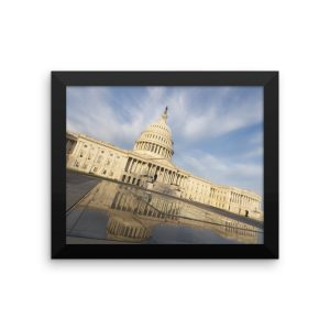 The  United States Capitol in a Framed Poster