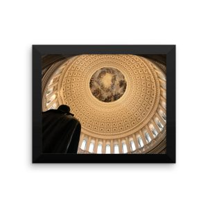 Rotunda of the United States Capitol in a Framed Poster
