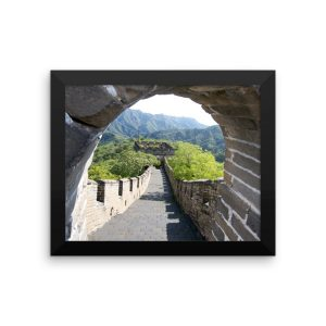 The Mutianyu section of the Great Wall of China in a Framed Poster