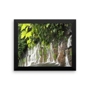 Waterfalls Cover a Wall of Rock in the Rainforest near Juayua, El Salvador, on a Framed Poster