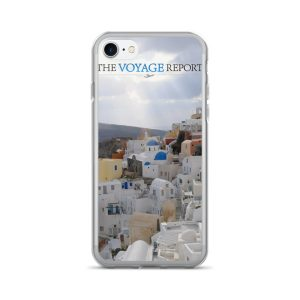 Sun Rays Fall on the Famous Village of Oia on the Greek island of Santorini on this iPhone 7/7 Plus Case