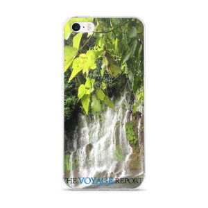 Waterfalls Cascade down a Wall of Rock in the El Salvador Rainforest on iPhone 5/5s/Se, 6/6s, 6/6s Plus Case