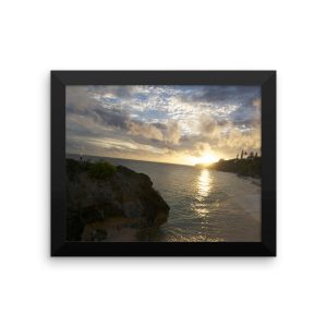 Framed Poster of a Gorgeous Seaside Sunset in Bermuda