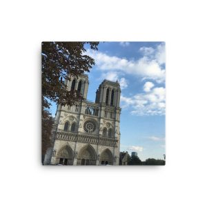 Notre Dame Cathedral in Paris on Canvas