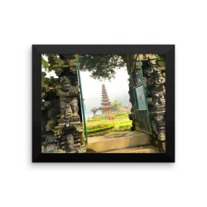 Framed poster of the entrance to a Revered Temple on Bali, Indonesia