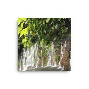 A Wall of Rock Covered in Waterfalls near Juayua, El Salvador, on Canvas