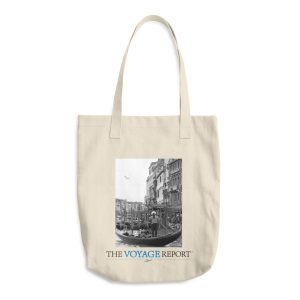 Gondolas and Gondoliers on the Canals of Venice, Italy, on Cotton Tote Bag