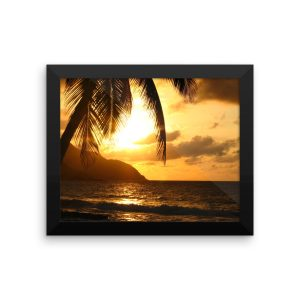 Sunset in the US Virgin Islands in a Framed Poster
