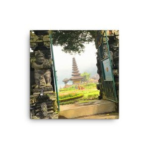 Entrance to a Revered Temple on Bali, Indonesia on Canvas