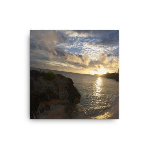 Gorgeous Seaside Sunset in Bermuda on Canvas