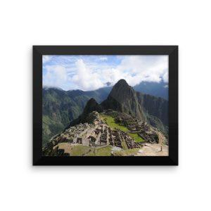 Machu Picchu, Peru, in a Framed Poster