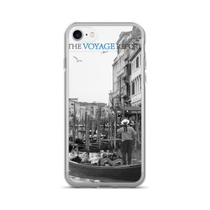A Bird Soars over a Gondola and Gondolier in Venice, Italy, on iPhone 7/7 Plus Case