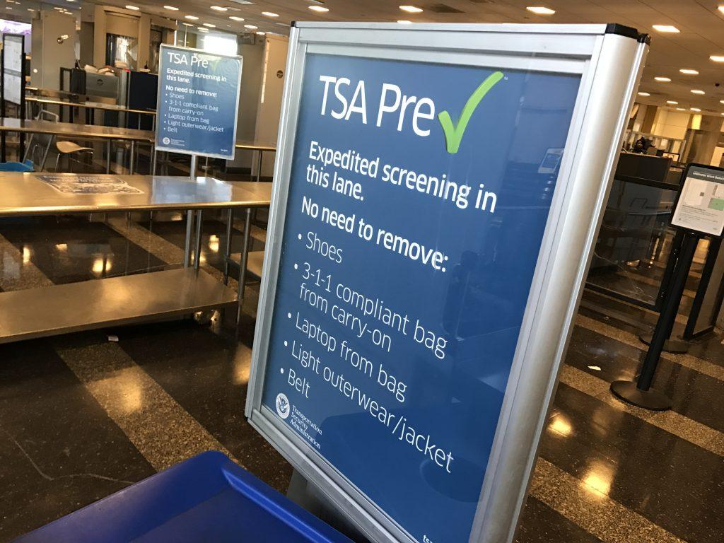 A TSA PreCheck Sign Where Pat-Downs are Going to Increase in comprehensiveness
