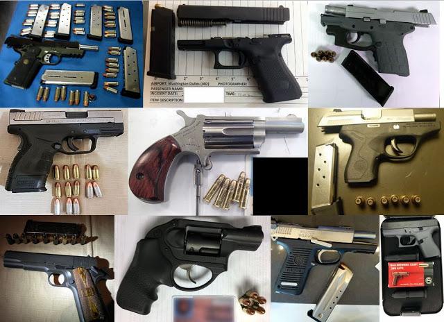 TSA seized weapons and guns