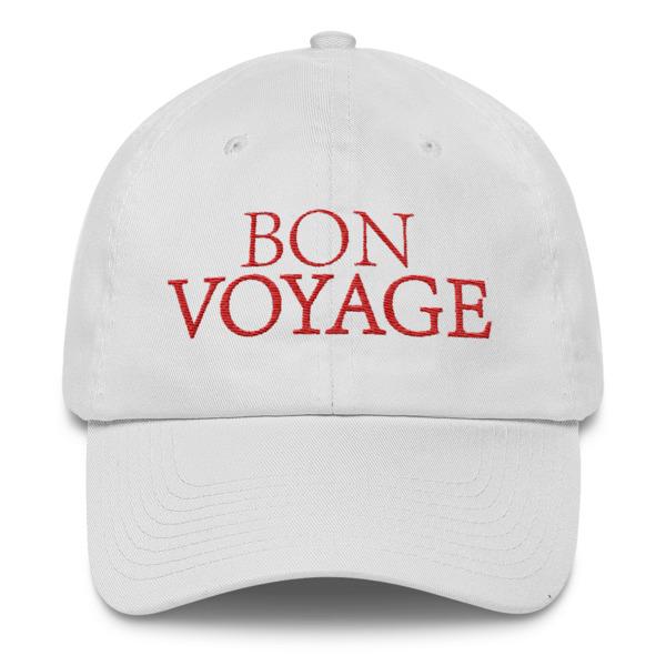 Bon Voyage slogan hat