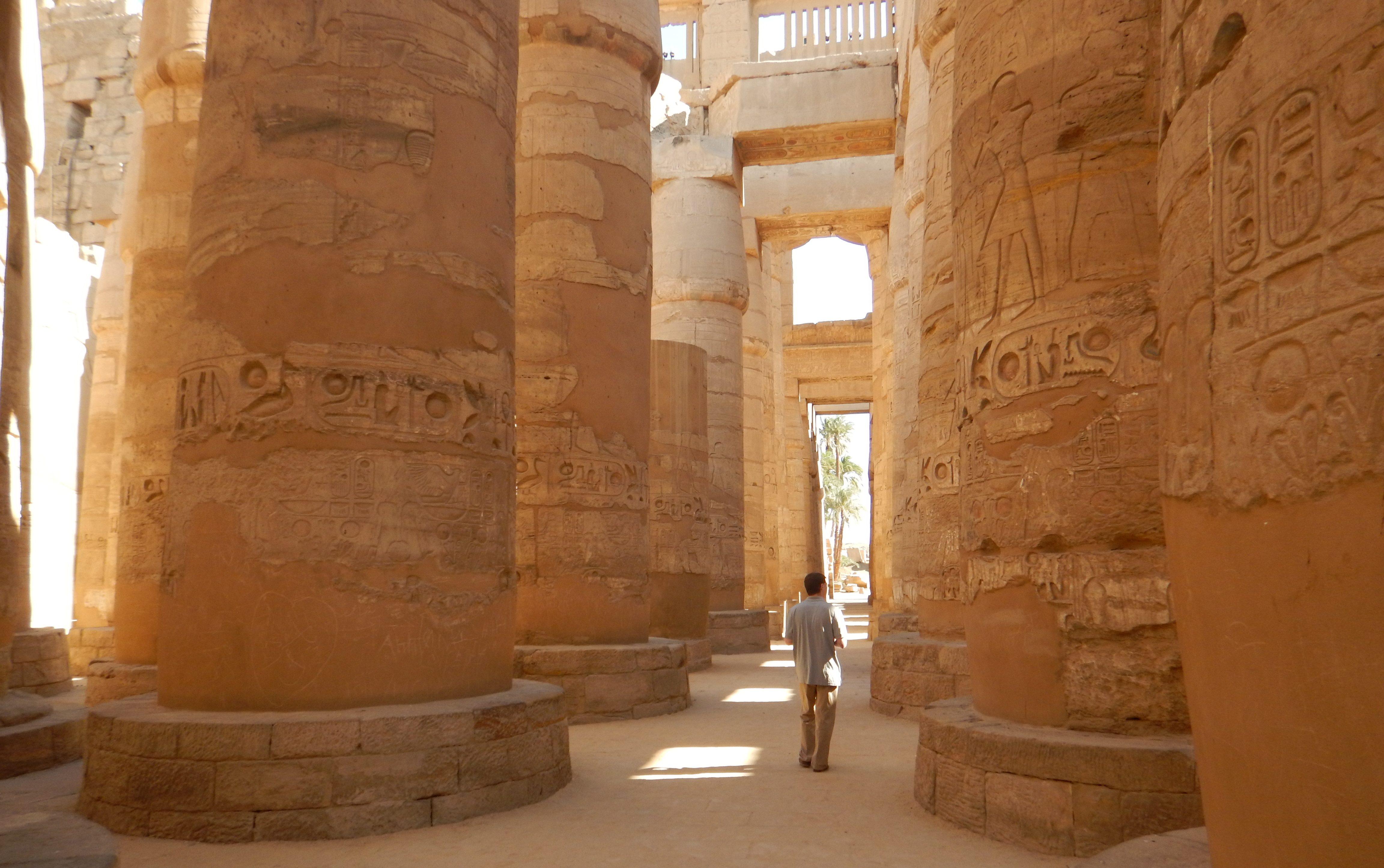 Karnak columns Egypt Luxor