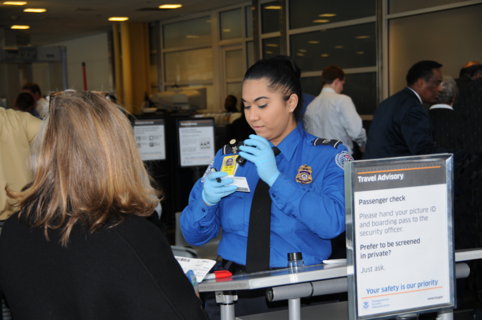 TSA Behavior Detection screening record