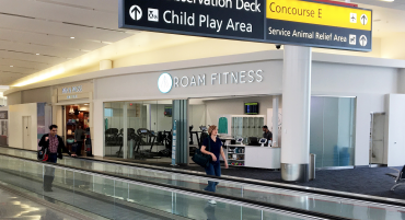 ROAM Fitness gyms airports