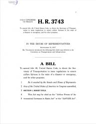 Airfare Cap Bill
