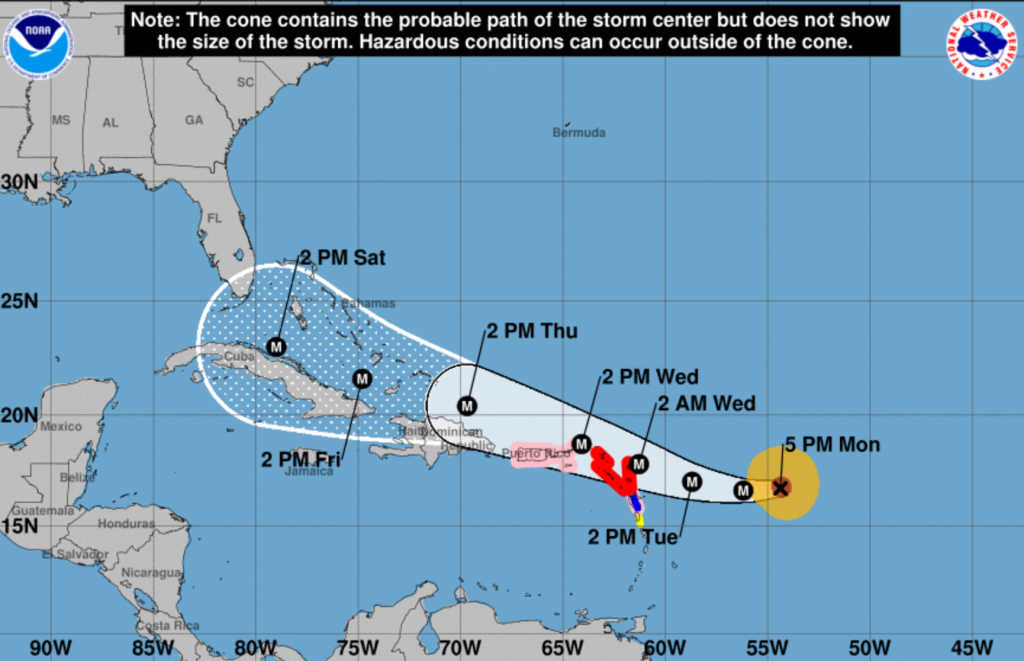 Tropical storms Jose and Katia join Hurricane Irma in Atlantic