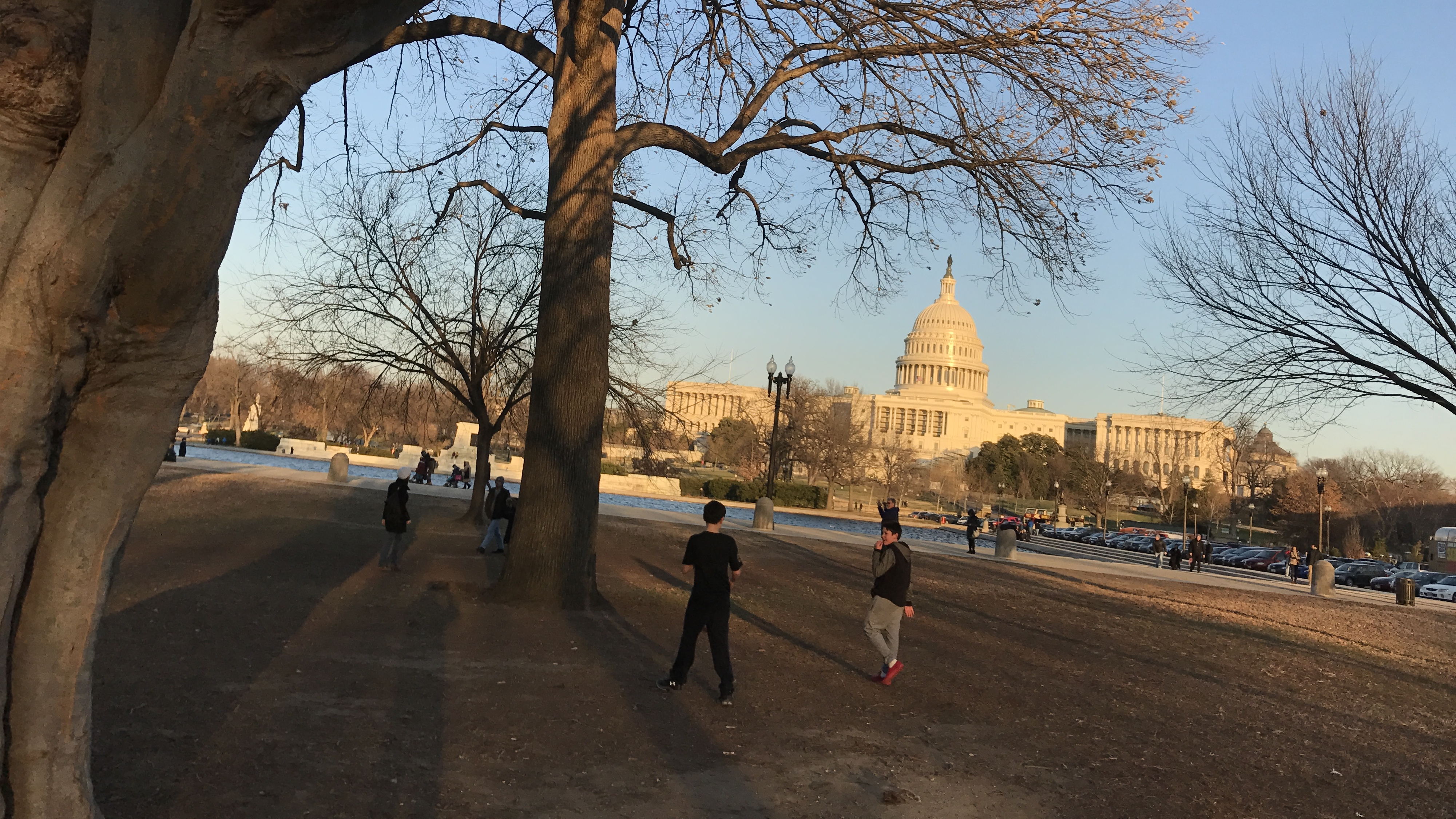 US Capitol at Sunset in Fall Washington DC