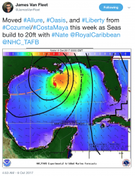 Hurricane Nate James Van Fleet Royal Caribbean