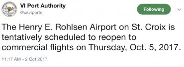 Hurricane Maria STT ST Croix Airport Damage