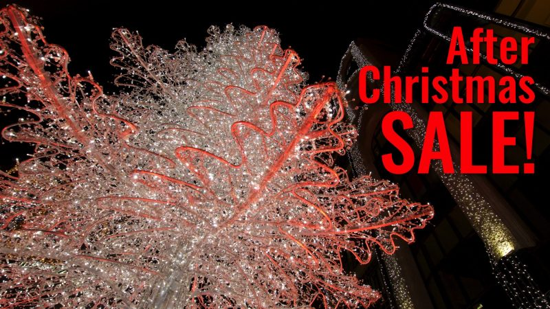 After Christmas Sale XMAS travel deals christmas tree
