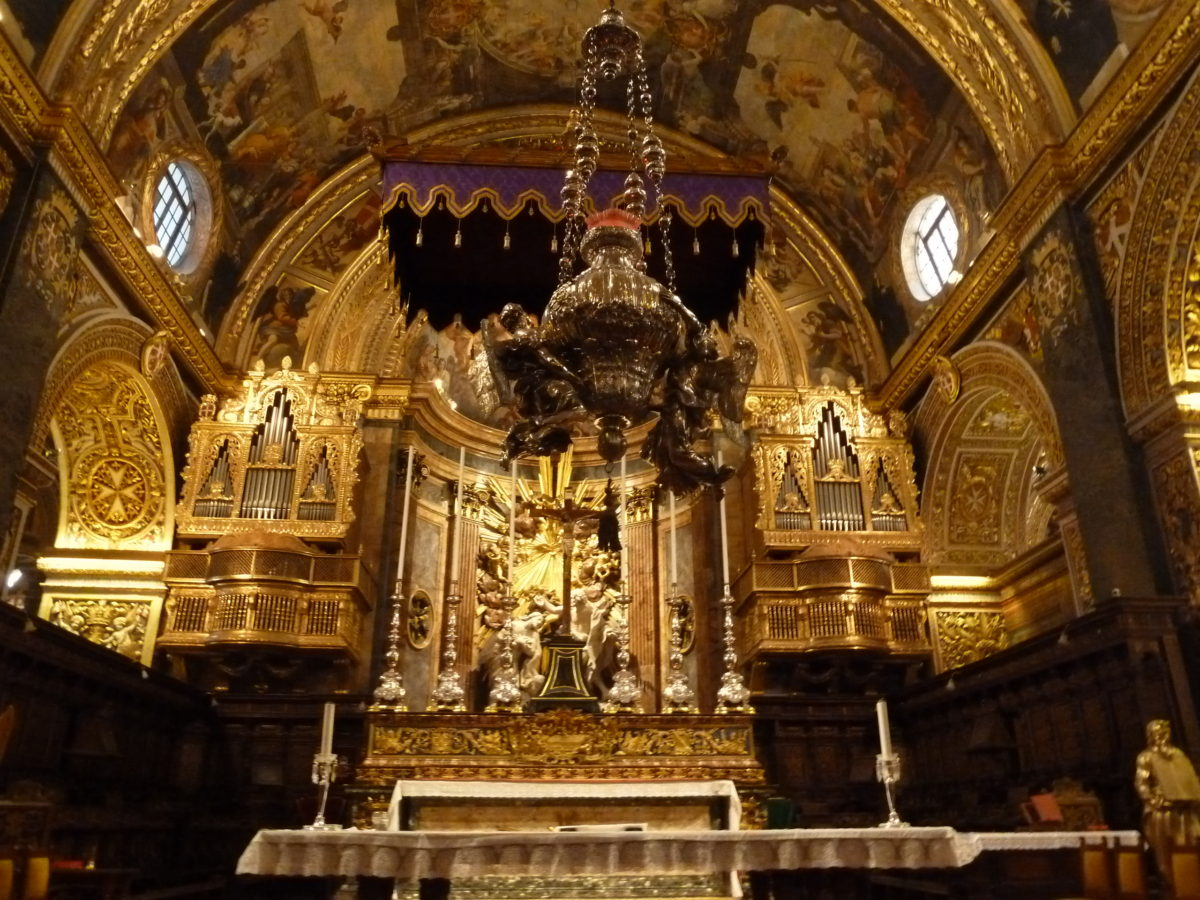 Altar of St. John's Co-Cathedral valetta malta mardi gras