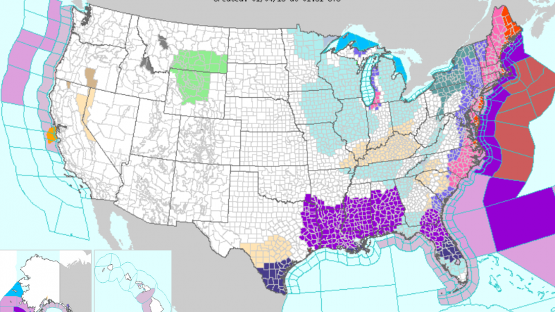 National Weather Service Bomb cyclone first winter storm of 2018 warnings watches snow east coast