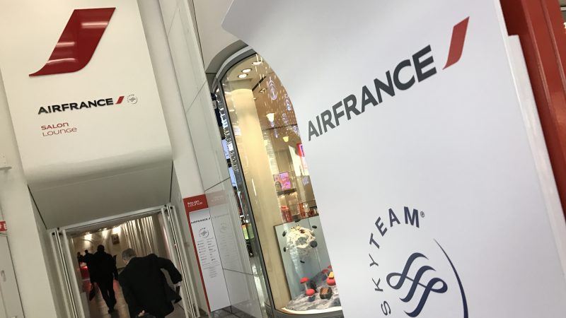 Airline Strike Air France SkyTeam Lounge Entrance CDG Paris