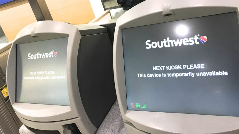 Germiest Airports Southwest Kiosks at Houston Hobby Airport