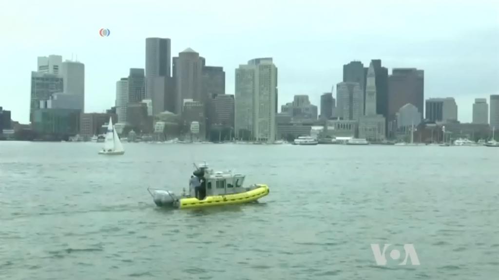Self-driving boats VOA News boston harbor autonomous boats