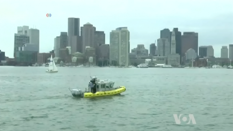 Self-driving boats VOA News boston harbor autonomous boats