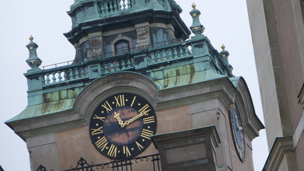 Sweden Stockholm clock tower