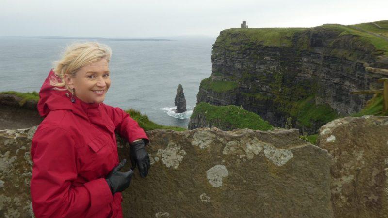 Terry Anzur at Cliffs of Moher on Wild Atlantic Way Ireland