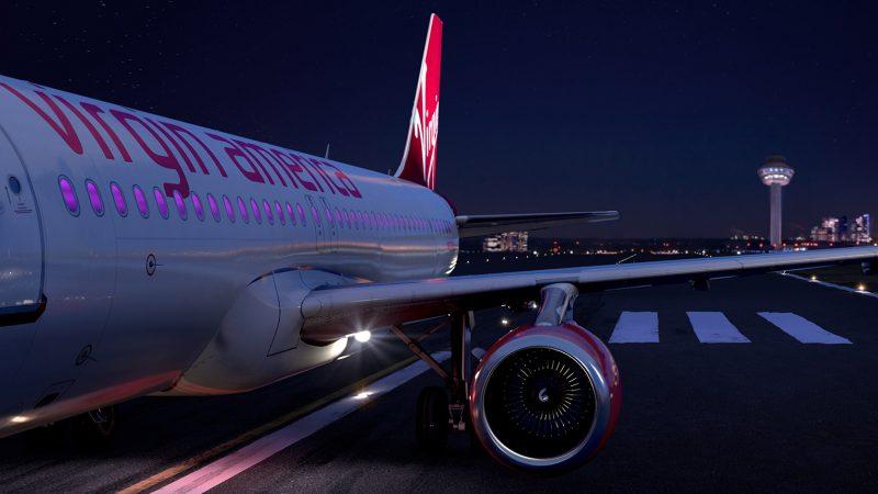 Virgin America plane VX